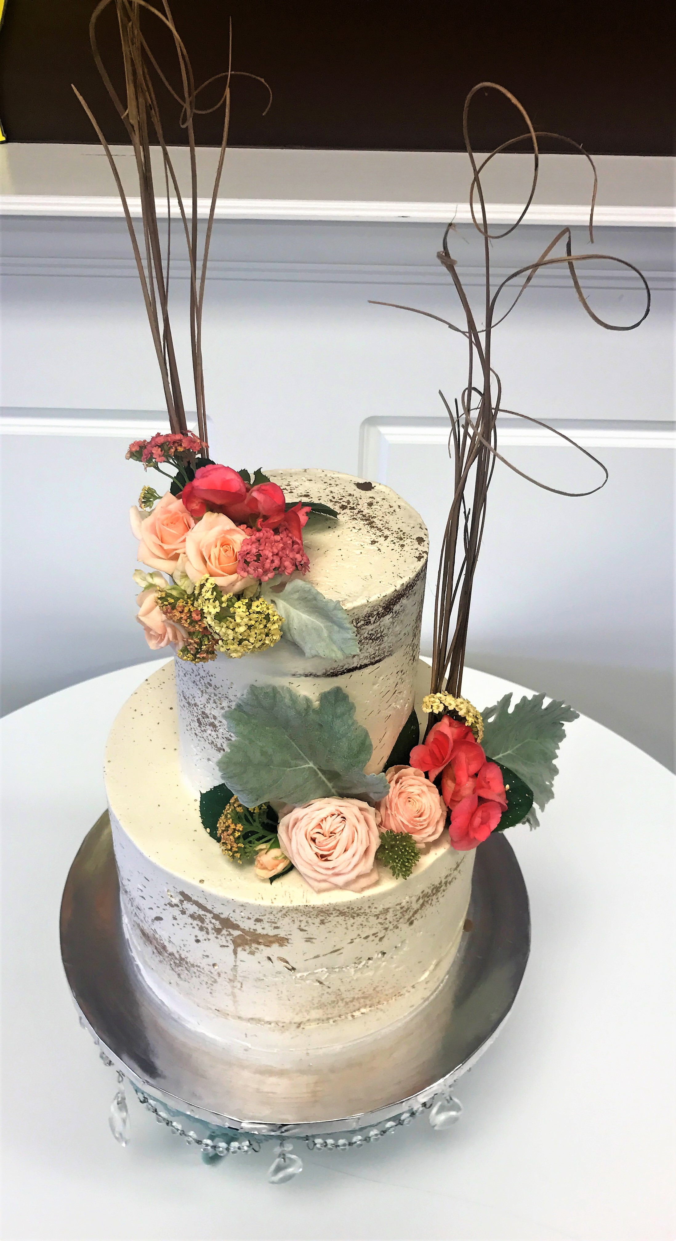 "2 tier: 6'' / 10"" bridal shower cake"
