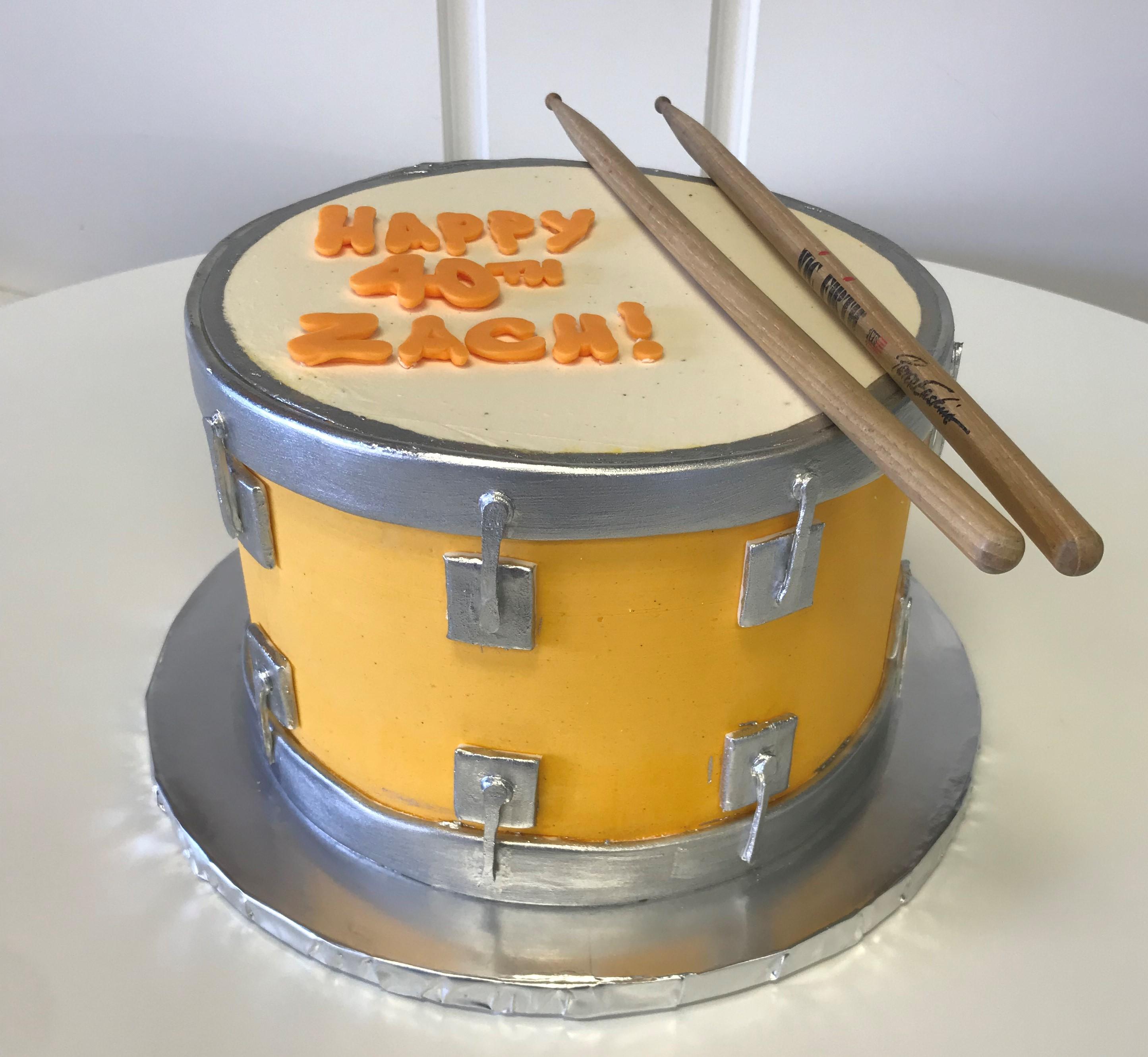 """10"""" drum cake"""
