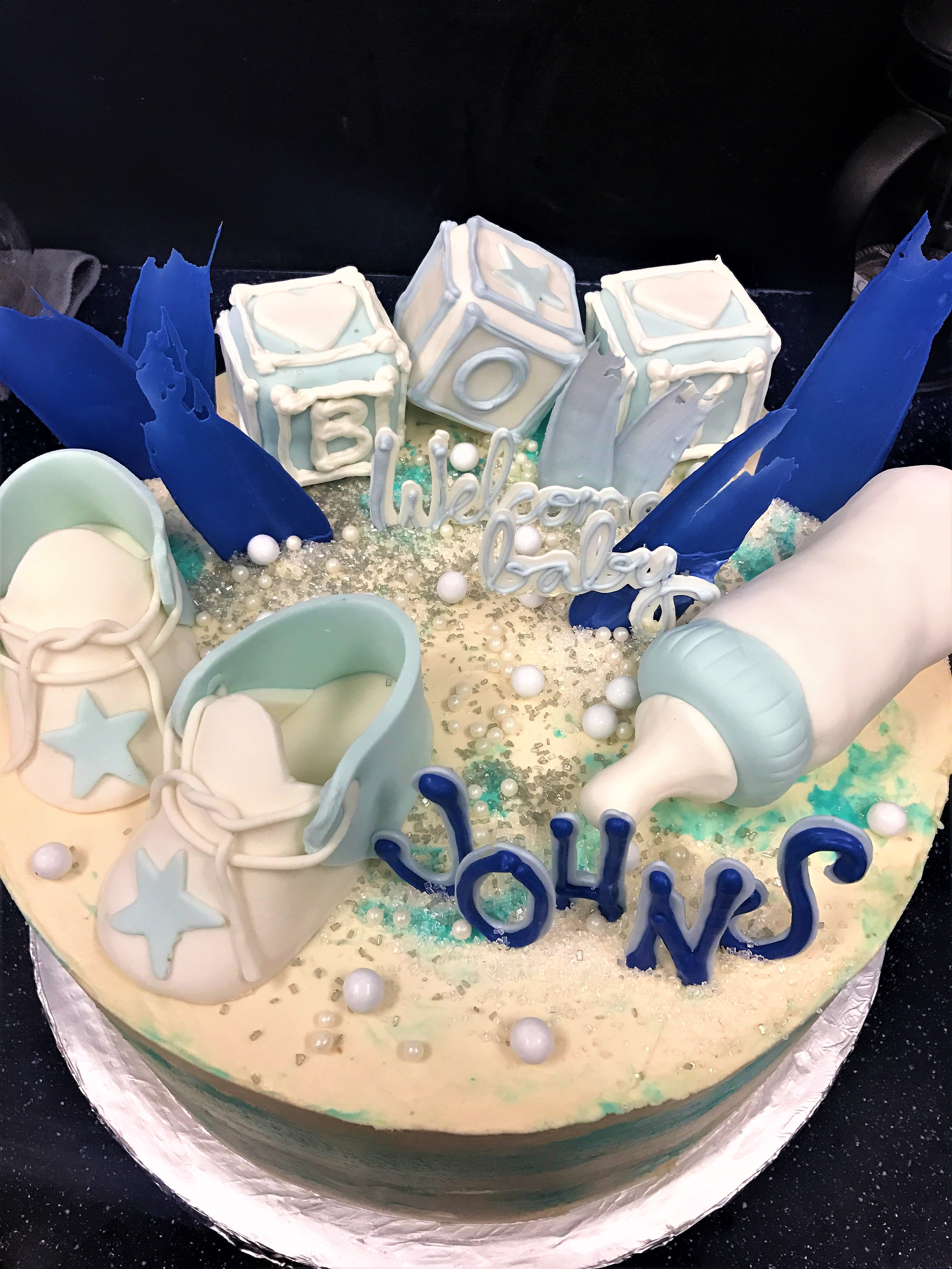10'' baby shower cake