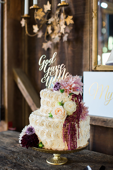"2 tiered short: 6"" / 10"" buttercream rosettes"