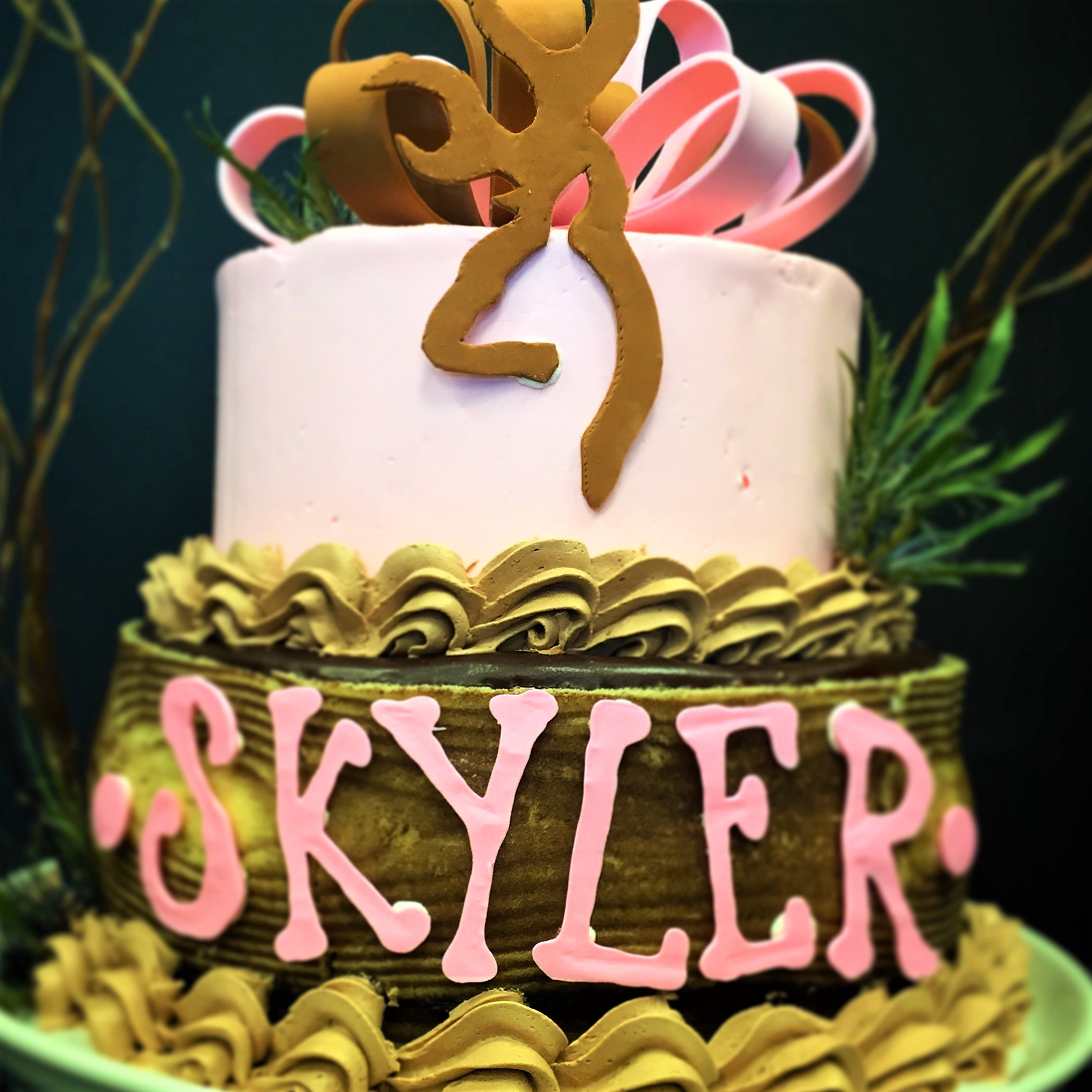 "2 tier: 6"" / 8"" birthday cake"